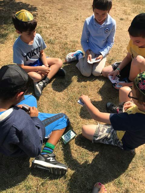 Kindergarten in a circle.